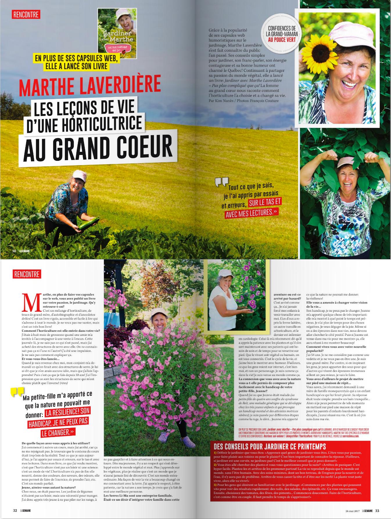 Livre Jardiner avec Marthe Pas plus pliqué que §a