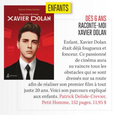 Livre Raconte Moi Xavier Dolan Nº 25 Messageries Adp