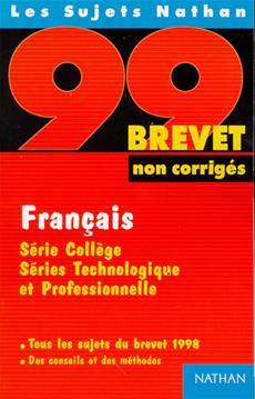 Livre Francais 3e Brevet 99 Non Cor Messageries Adp
