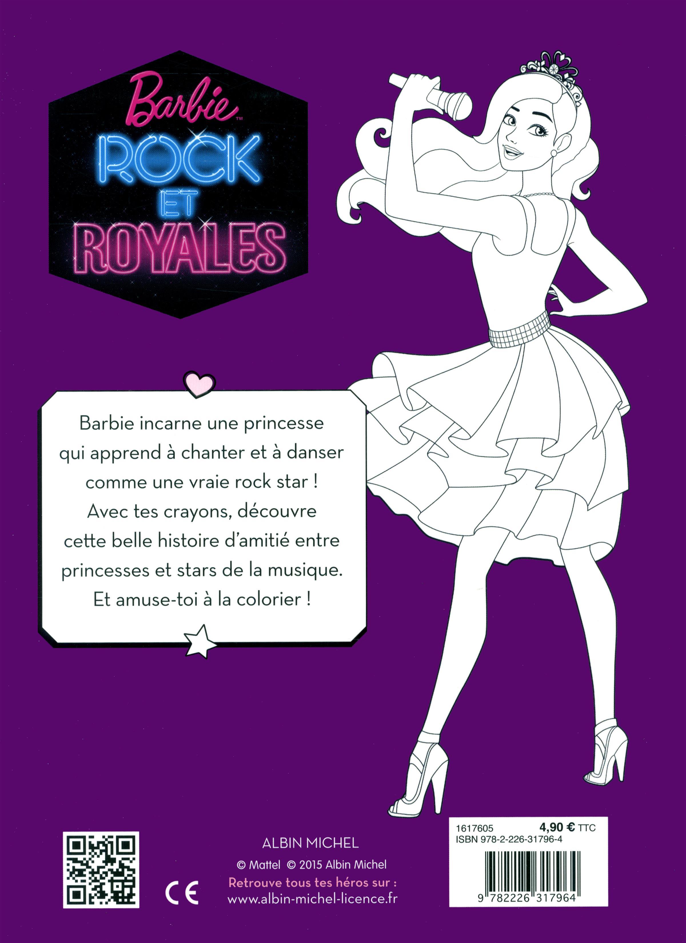 Coloriage Princesse Qui Danse Avec Prince.Livre Barbie Rock Et Royales Mon Histoire A Colorier Messageries Adp