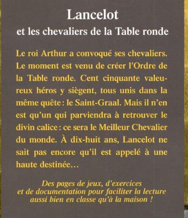 Livre Lancelot Et Les Chevaliers De La Table Ronde Messageries Adp