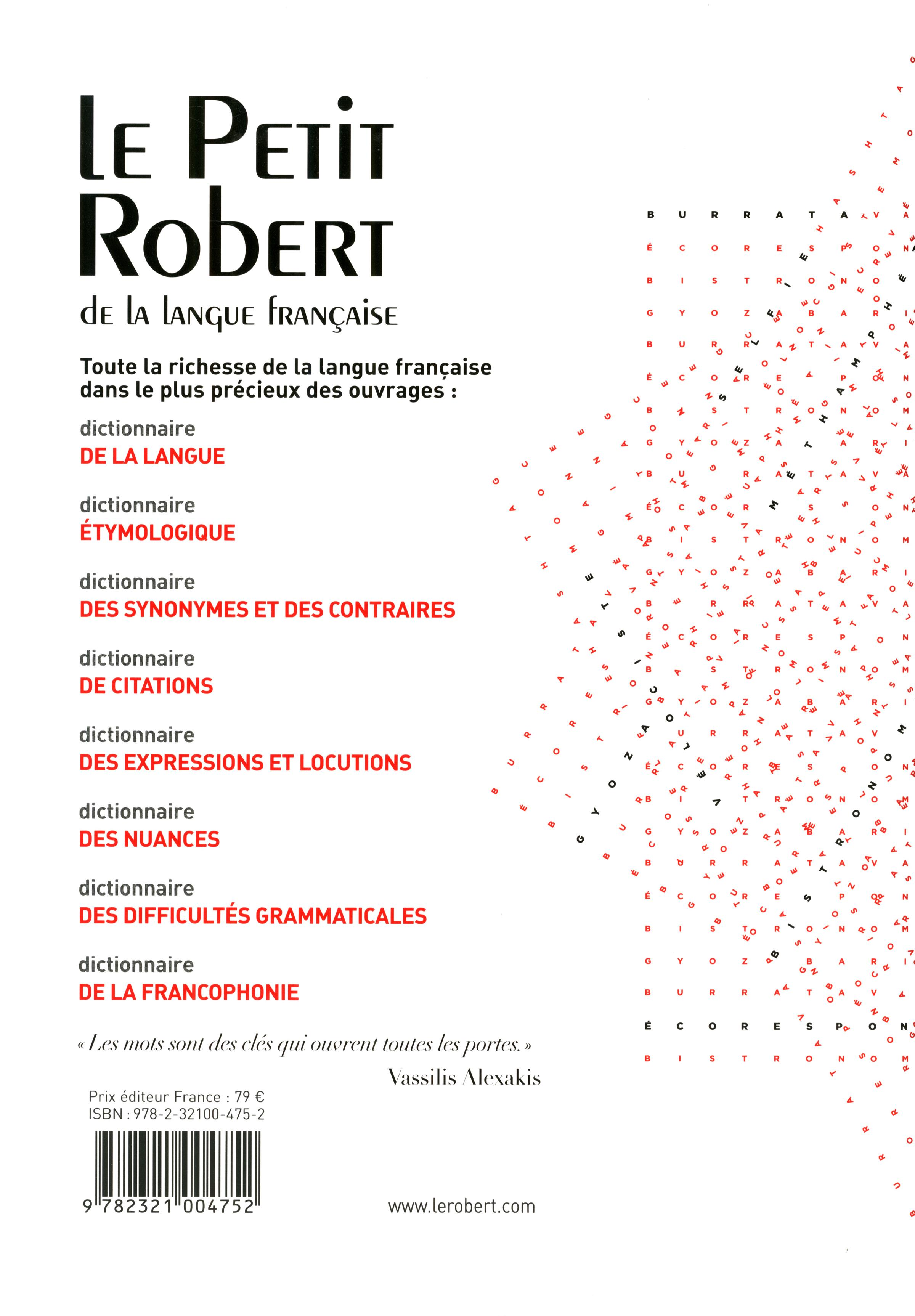 Livre le petit robert de la langue fran aise 2015 grand - Office de la langue francaise dictionnaire ...