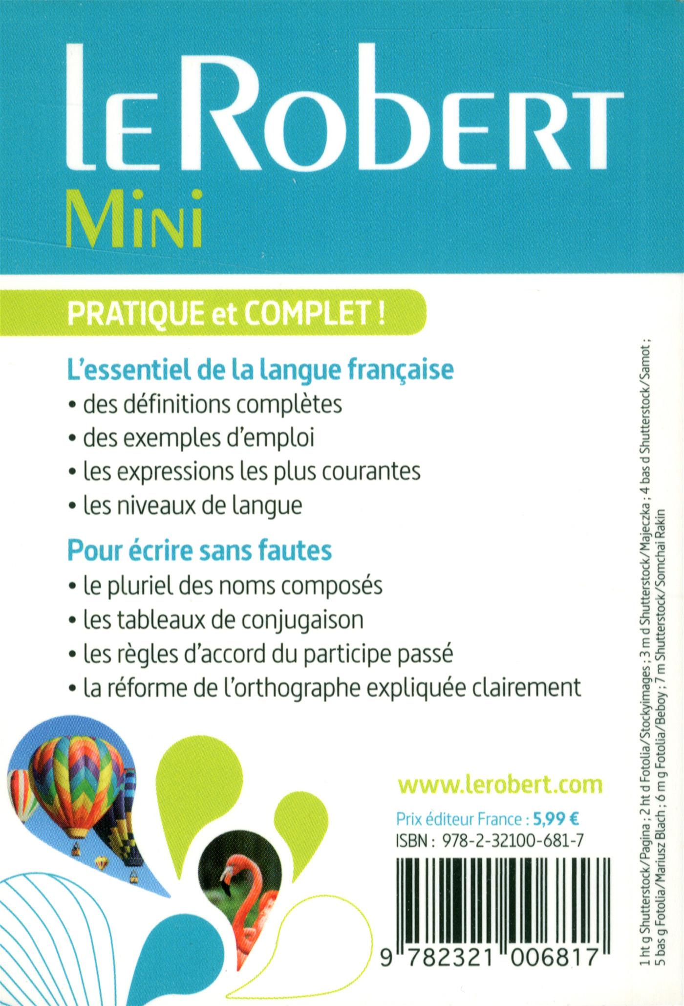 Livre le robert mini messageries adp - Office de la langue francaise dictionnaire ...