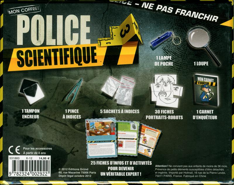 livre coffret police scientifique messageries adp. Black Bedroom Furniture Sets. Home Design Ideas