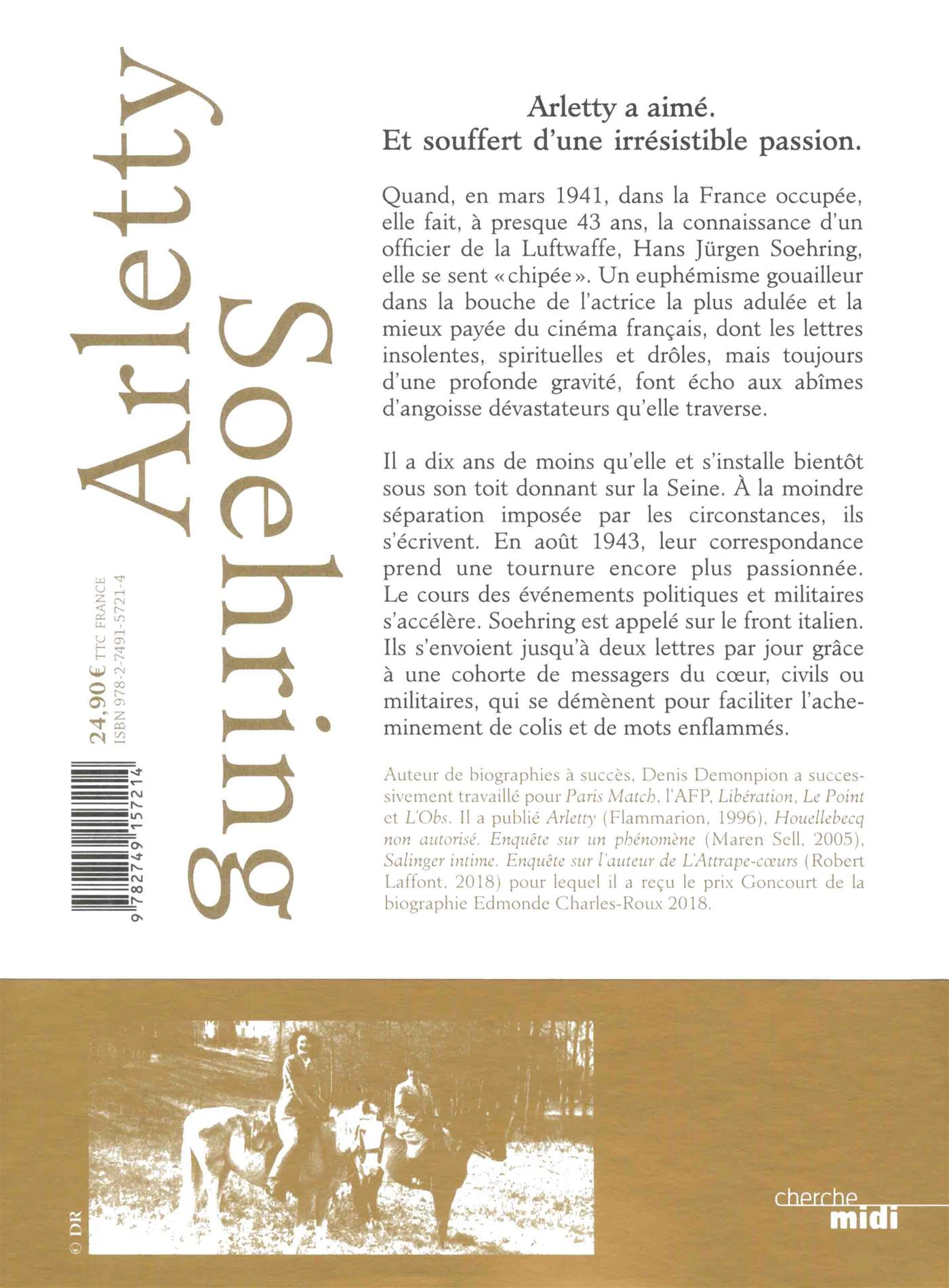 Livre Arletty Soehring Une Passion Allemande Messageries Adp