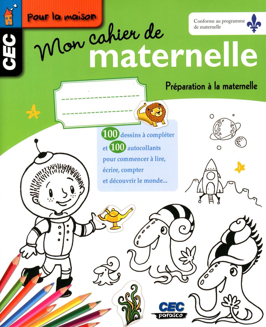 Livre Mon cahier de maternelle - Préparation à la ...