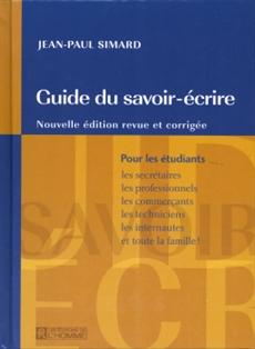 Guide du savoir-écrire
