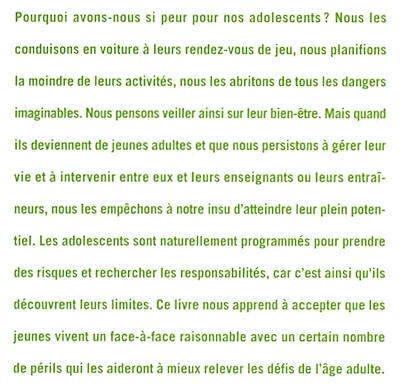 Livre Le Syndrome De La Mere Poule Apprendre Aux Ados A