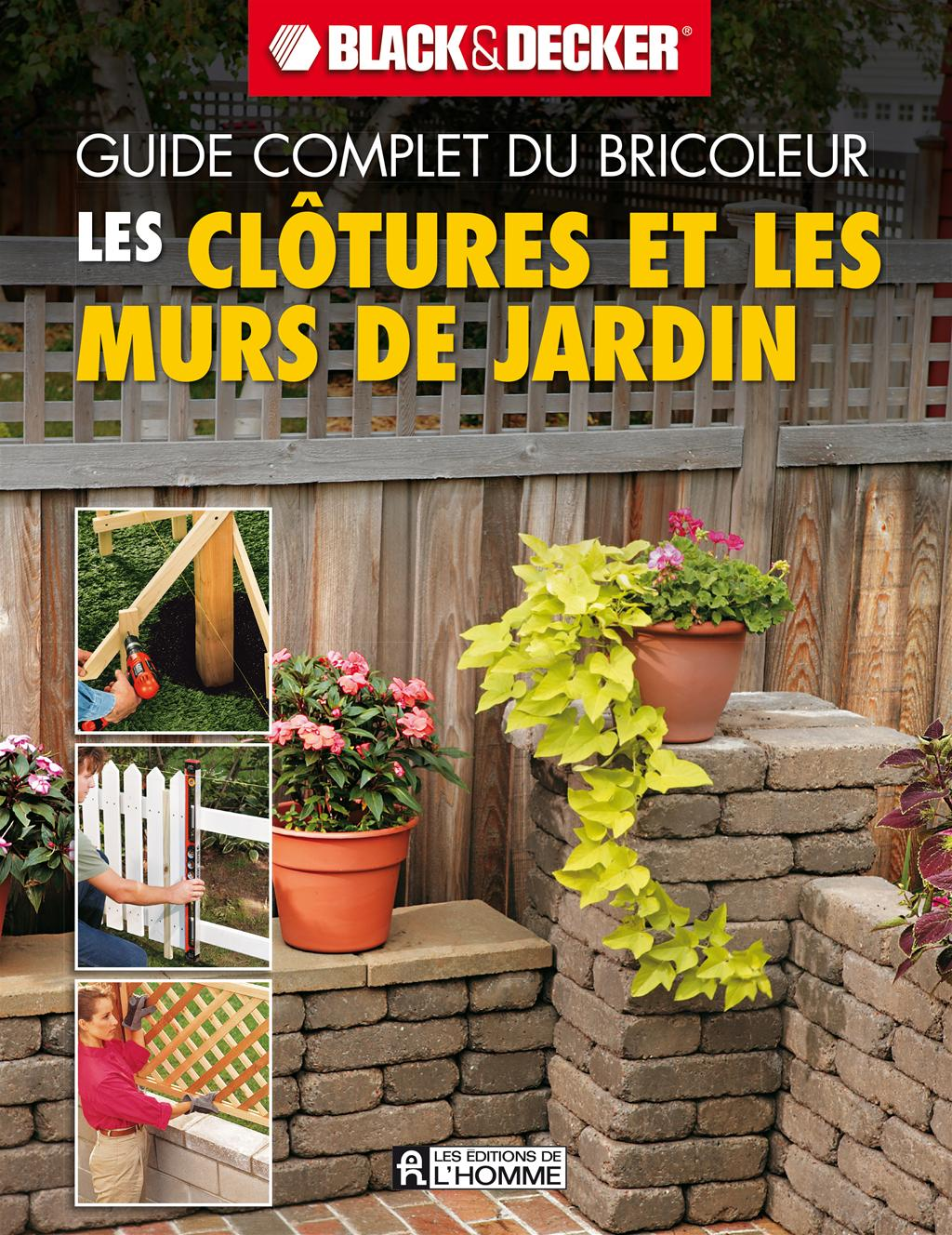 livre les cl tures et les murs de jardin messageries adp. Black Bedroom Furniture Sets. Home Design Ideas