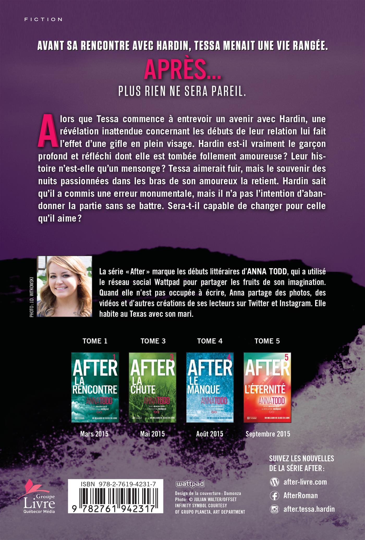 Livre After Tome 2 La Collision Les Editions De L Homme