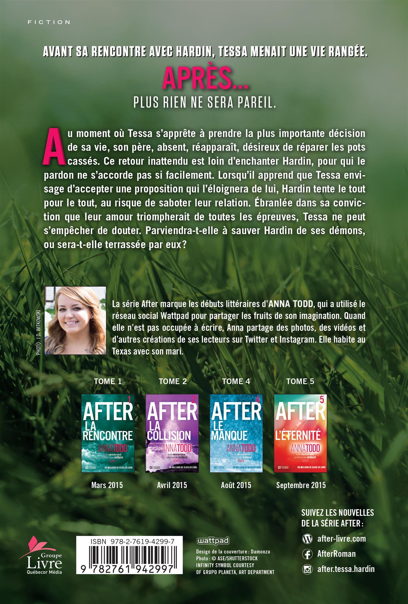 Livre After Tome 3 La Chute Les Editions De L Homme