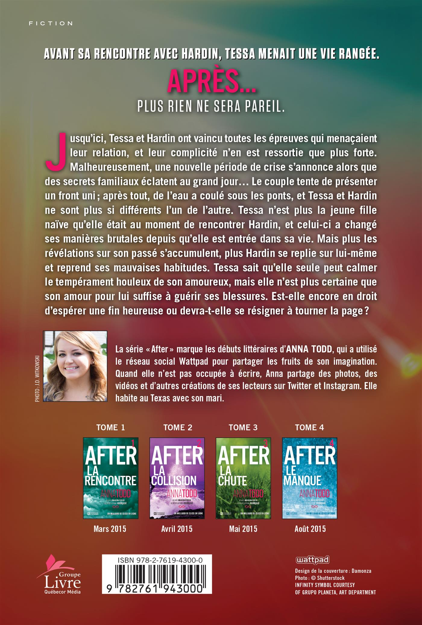 Livre After Tome 5 L Eternite Les Editions De L Homme