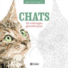 Animosaïk - Chats - 60 coloriages géométriques