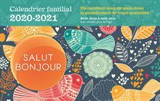 Calendrier familial 2020-2021 Salut Bonjour