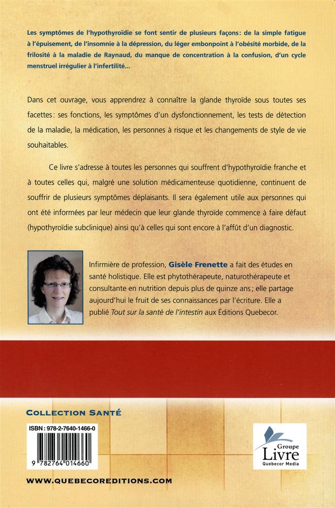 Livre L'hypothyroïdie expliquée | Les Éditions de l'Homme
