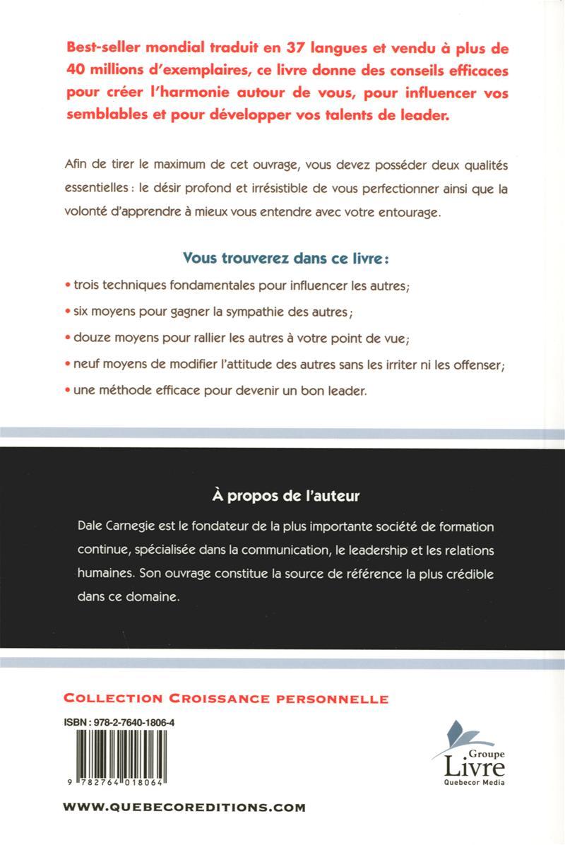 livre comment se faire des amis best seller mondial traduit en 37 langues les ditions de l. Black Bedroom Furniture Sets. Home Design Ideas