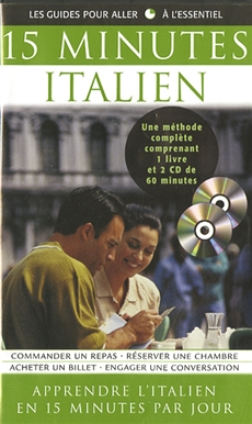 15 Minutes Italien - Coffret livre et CD
