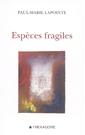 Espèces fragiles