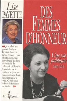 Des femmes d'honneur - Une vie publique 1968-1976