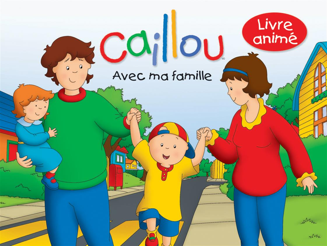 livre caillou avec ma famille livre anim pop up messageries adp. Black Bedroom Furniture Sets. Home Design Ideas