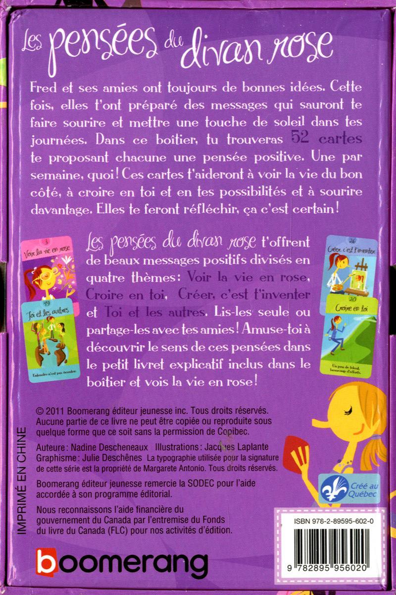 Livre les pens es du divan rose 52 cartes de pens es for Divan jeunesse 75015