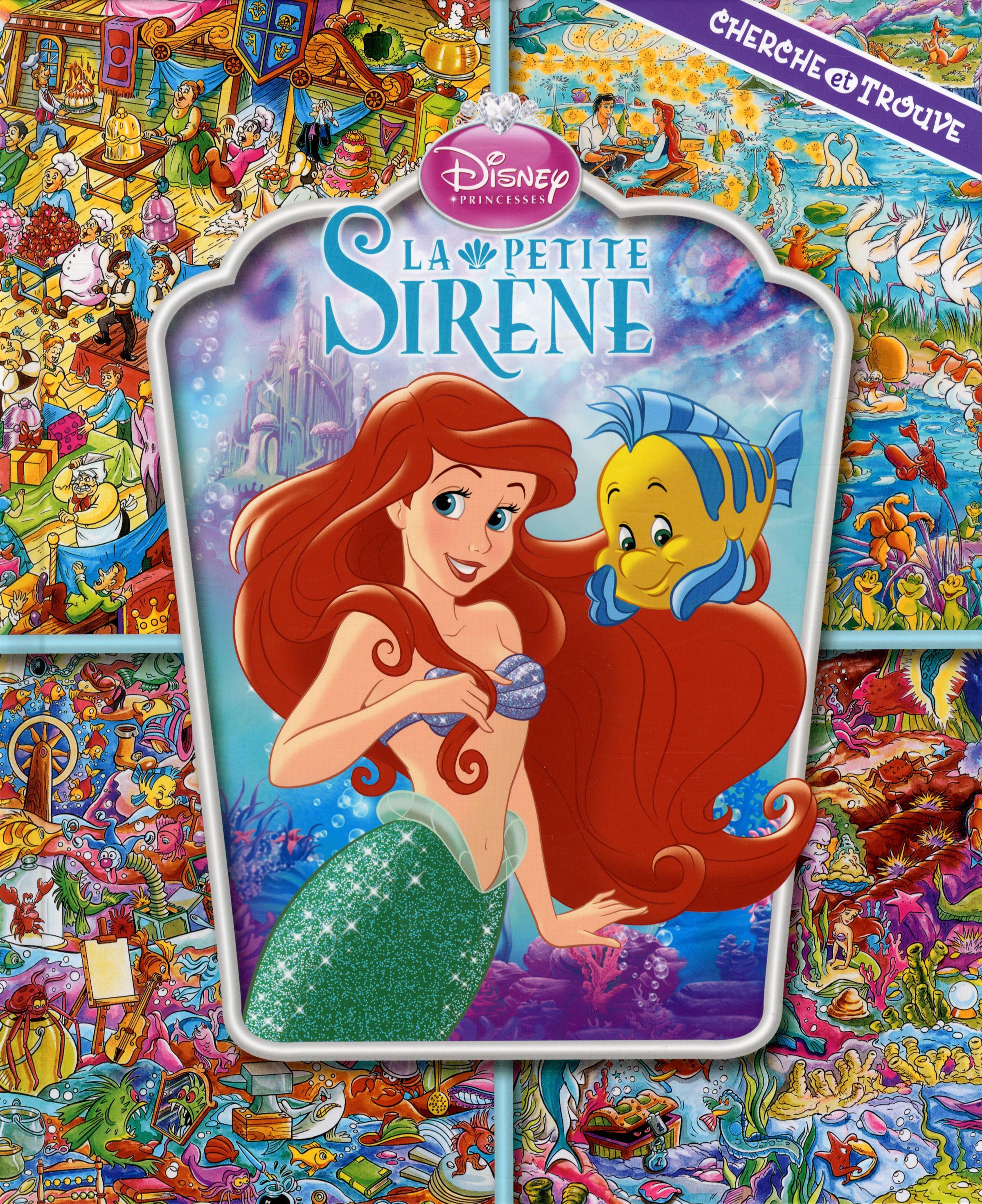 Livre La Petite Sirene Cherche Et Trouve Messageries Adp