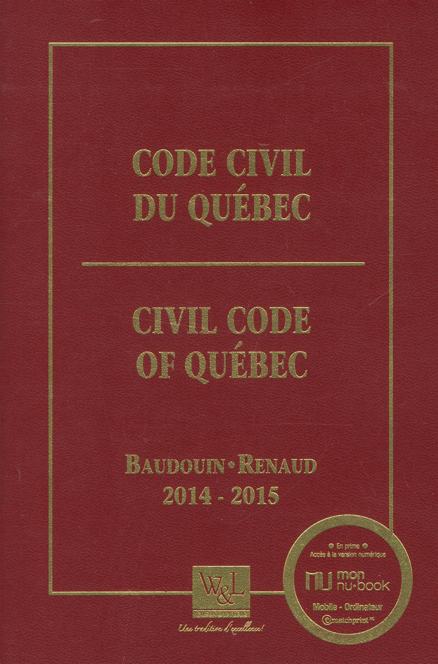Livre code civil du qu bec 2014 2015 messageries adp - Table de reference pension alimentaire ...