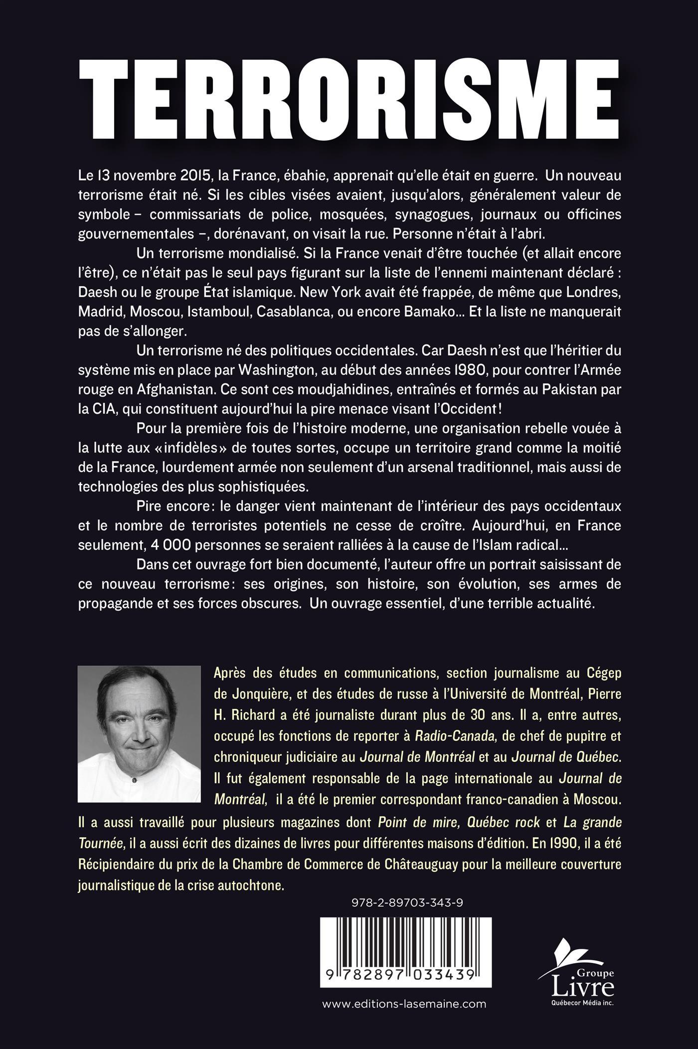 ... Chambre De Commerce Franco Canadienne Livre Le Terrorisme Quand Tout  Peu Devenir Une Cible ...