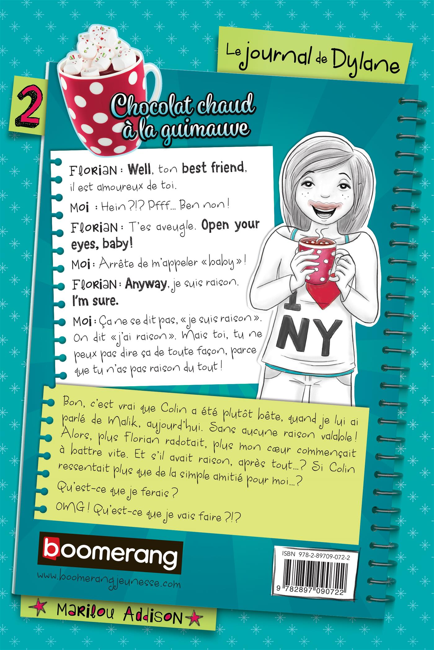 Livre chocolat chaud la guimauve n 2 messageries adp for Le journal de la