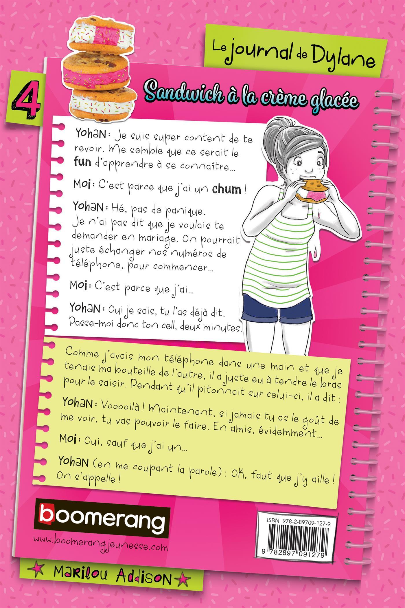 Livre sandwich la cr me glac e n 4 messageries adp for Le journal de la