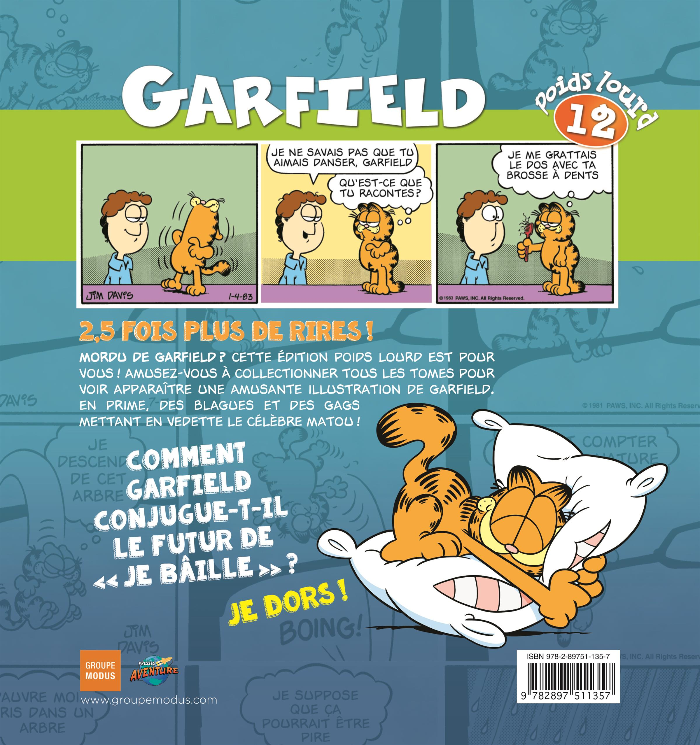 Livre garfield poids lourd 12 messageries adp for Logiciel gad garage