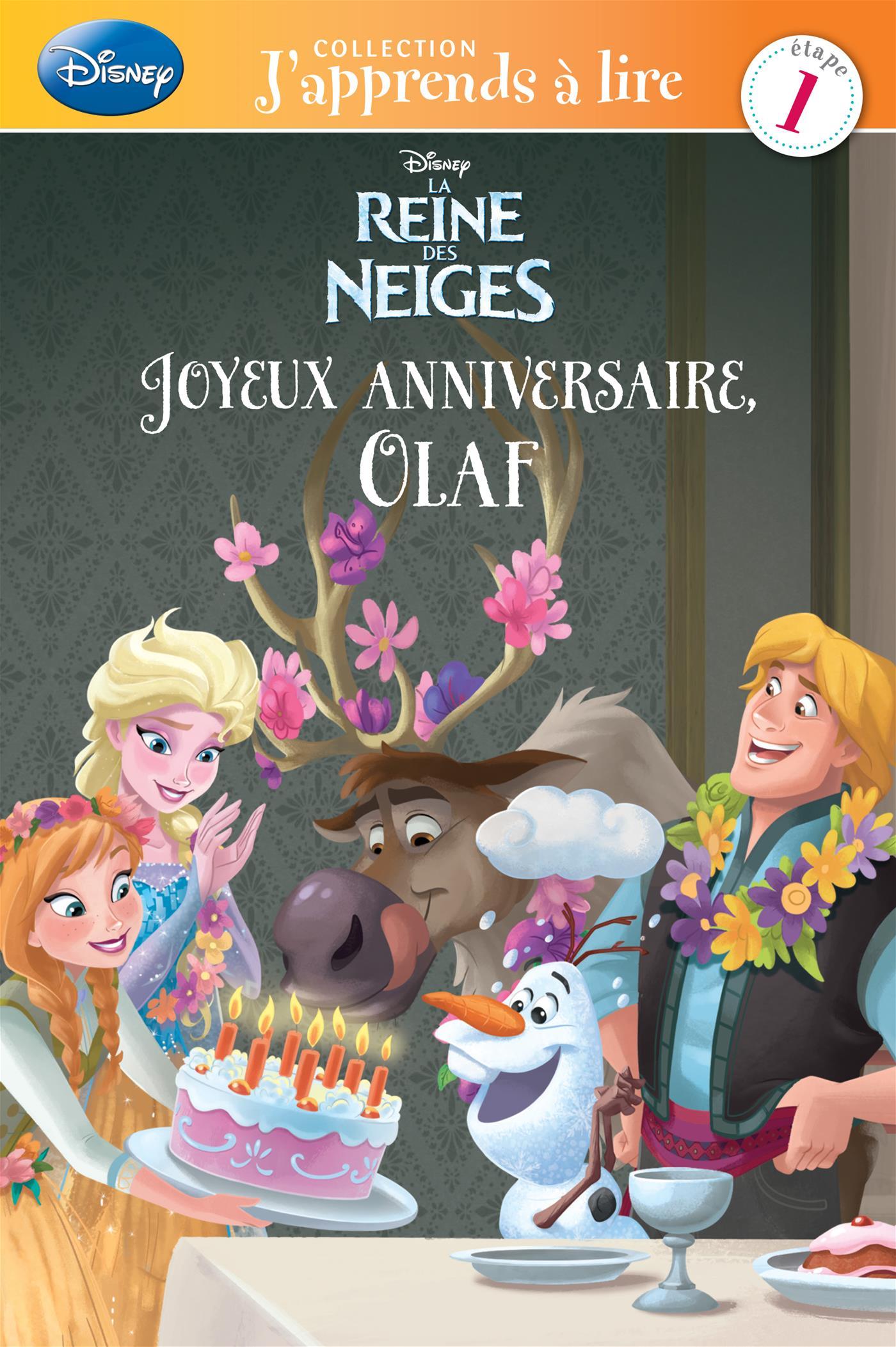Livre Joyeux Anniversaire Olaf Messageries Adp