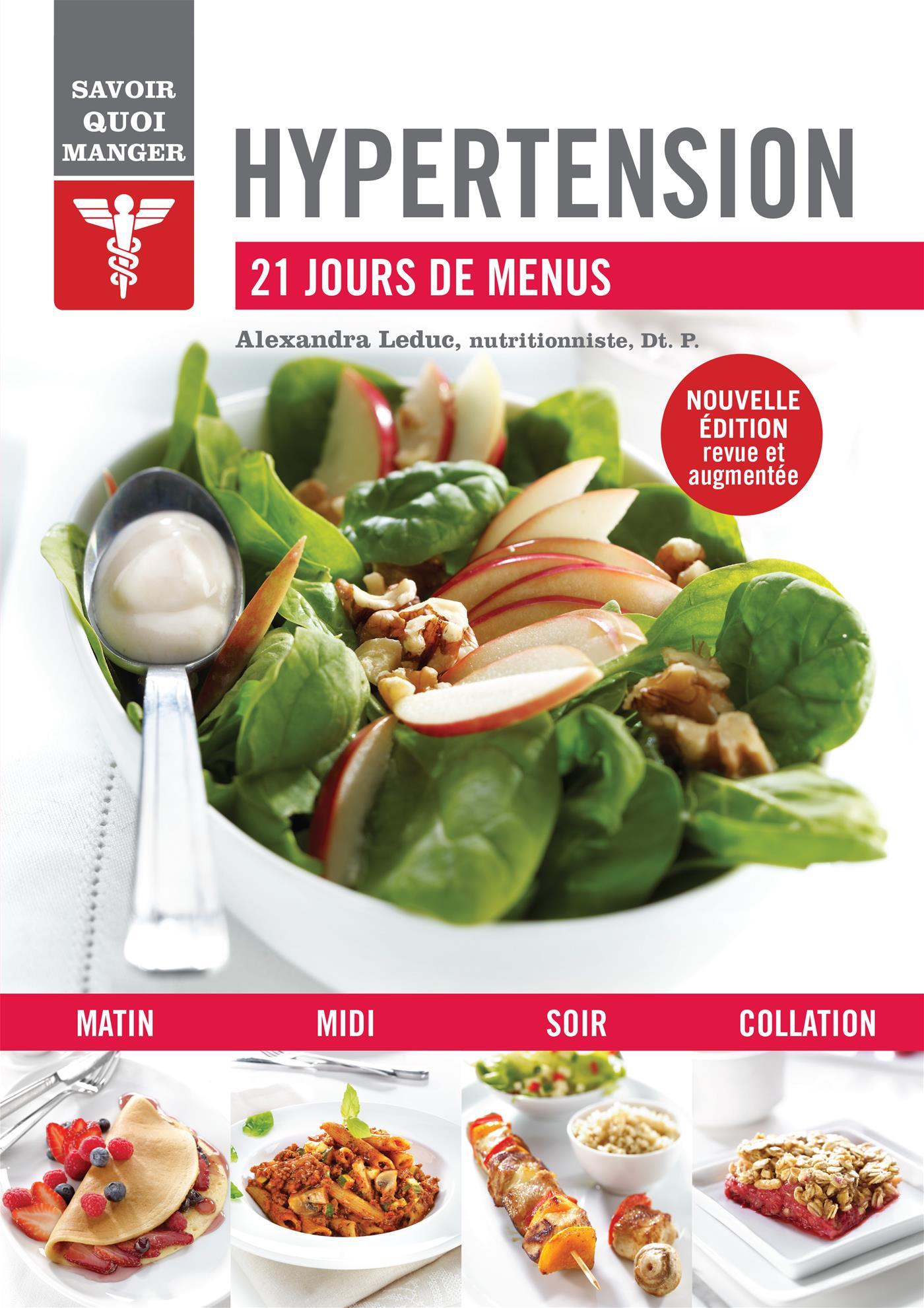 Livre Hypertension - 21 jours de menus - Messageries ADP