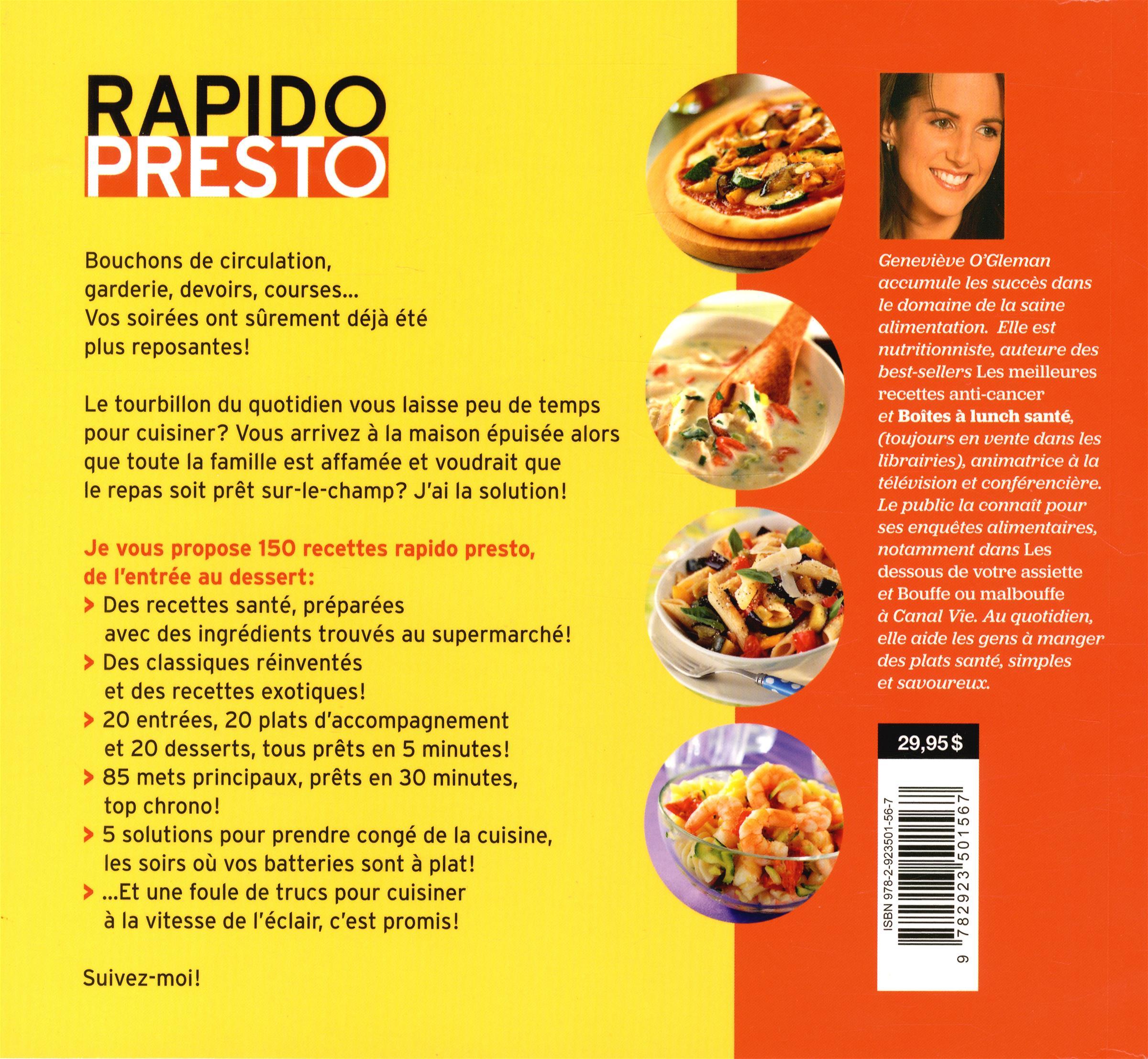 Livre rapido presto 150 recettes sant en 30 minutes - Cuisiner avec les aliments contre le cancer pdf ...