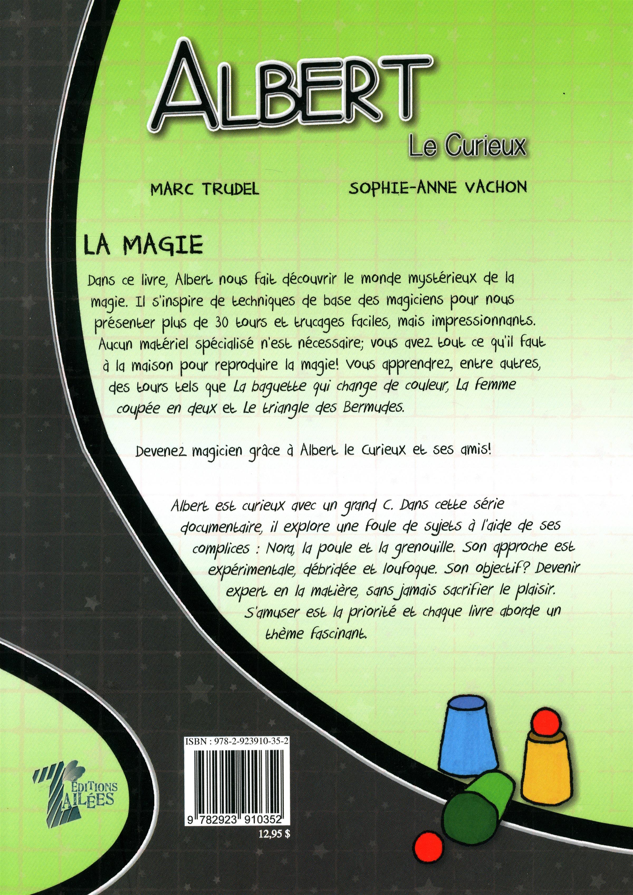 Livre Albert le curieux - La magie   Messageries ADP