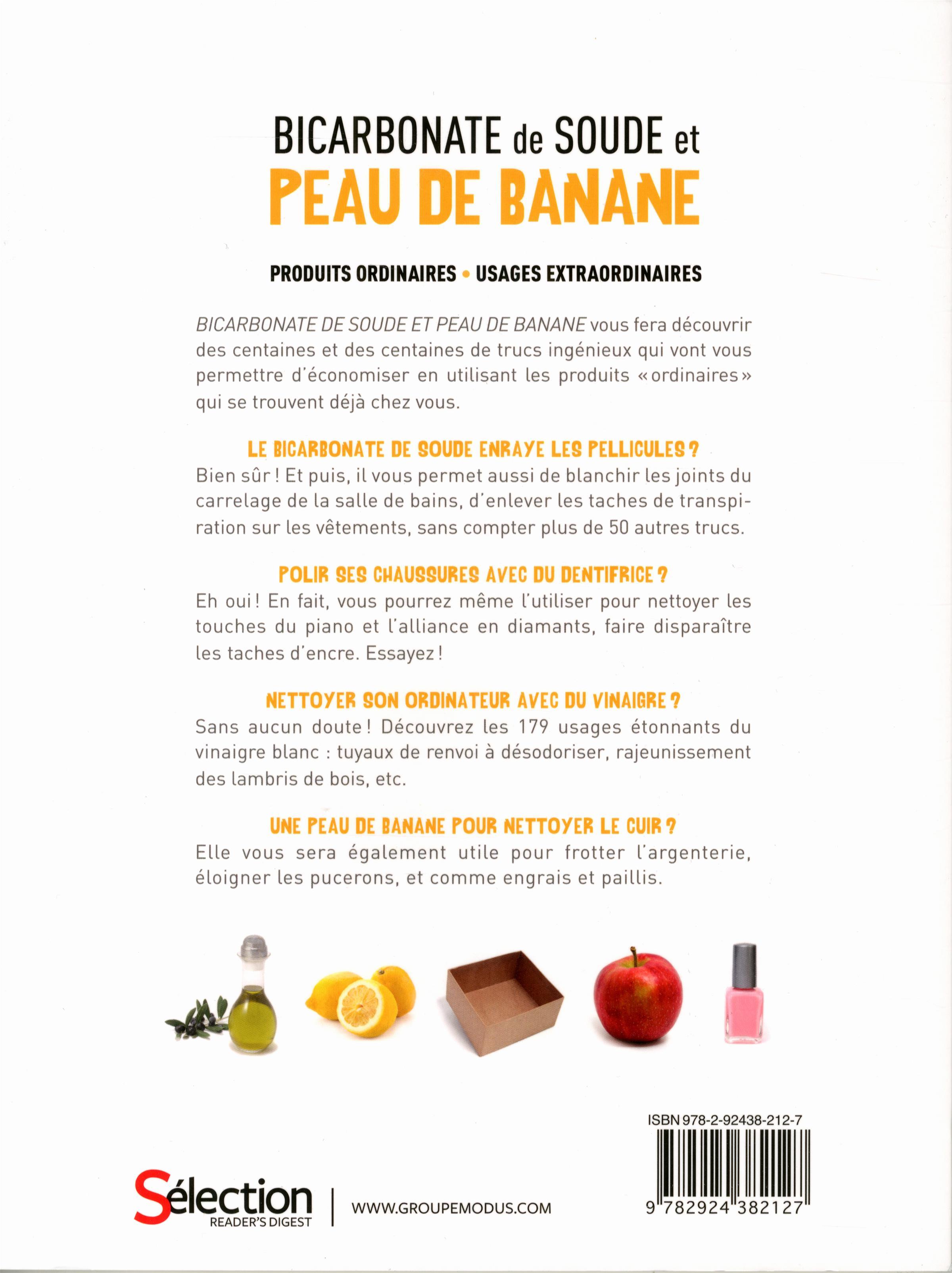 livre bicarbonate de soude et peau de banane produits ordinaires