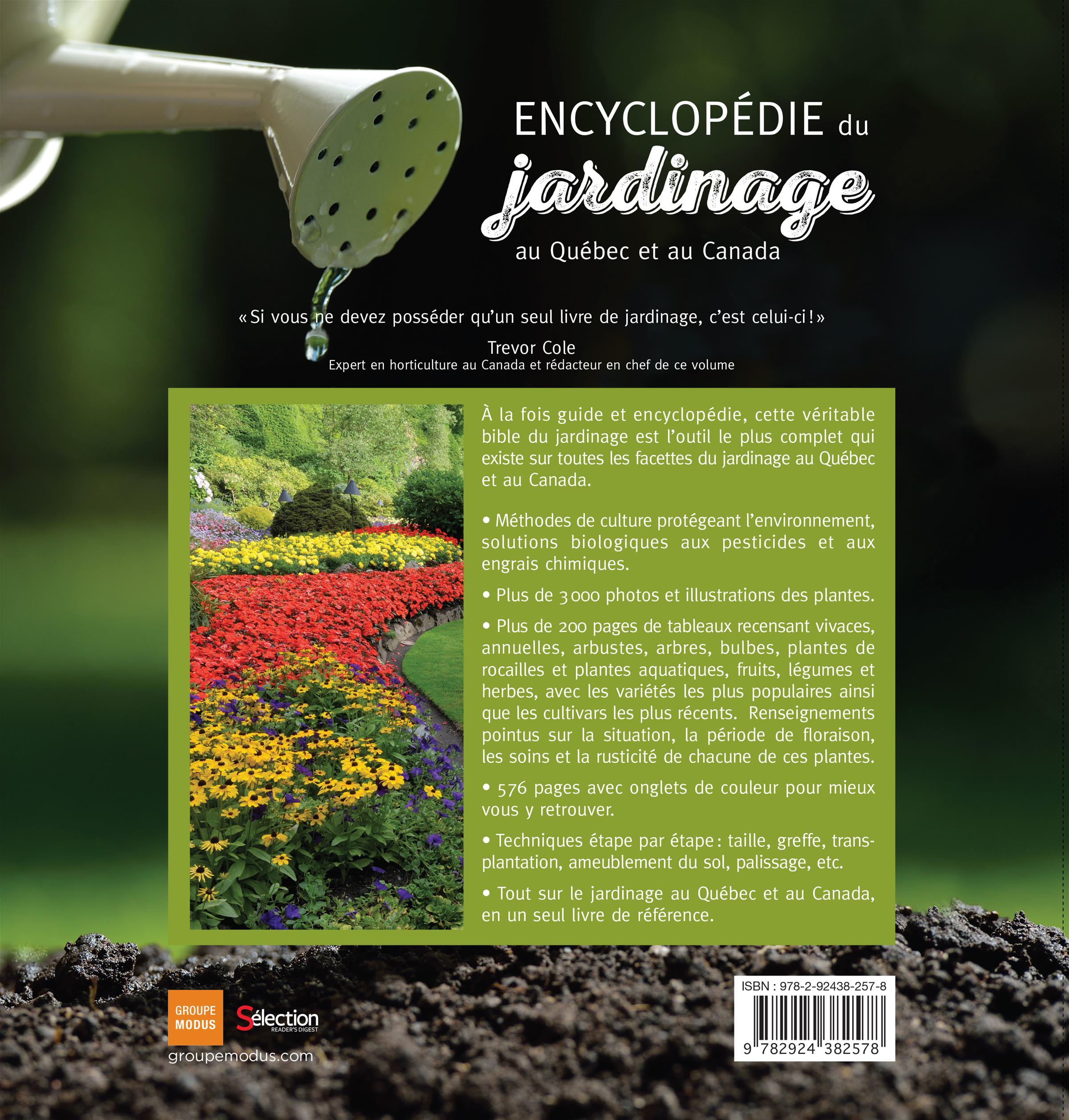 Livre Encyclopédie du jardinage au Québec et au Canada | Messageries ADP
