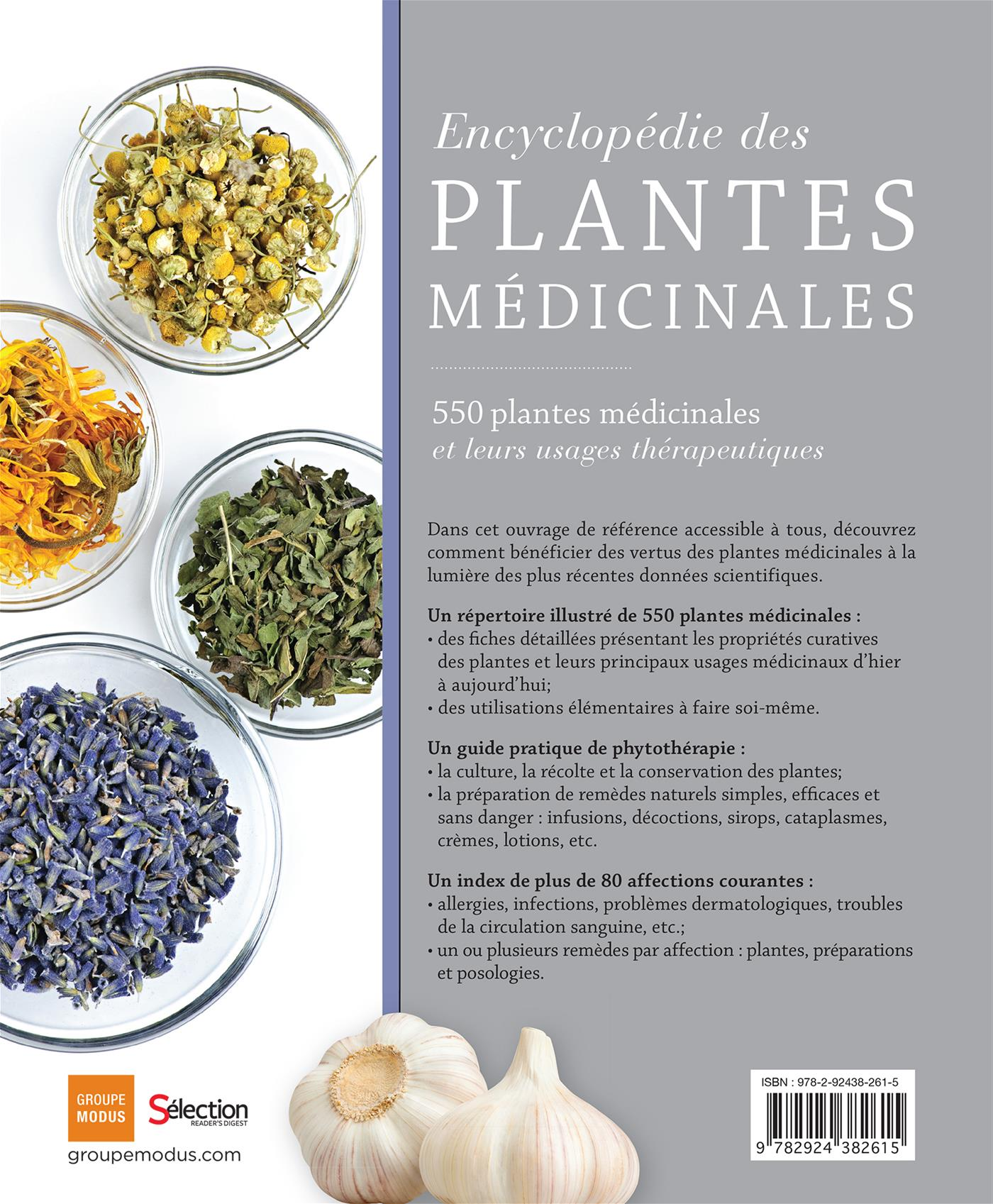 Livre Encyclopédie des plantes médicinales - 550 plantes médicinales et leurs usages ...